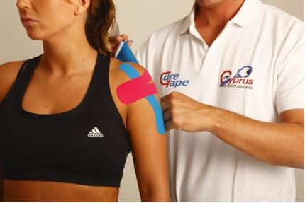 medical, taping, concept, massage, sport , tape, sporttape